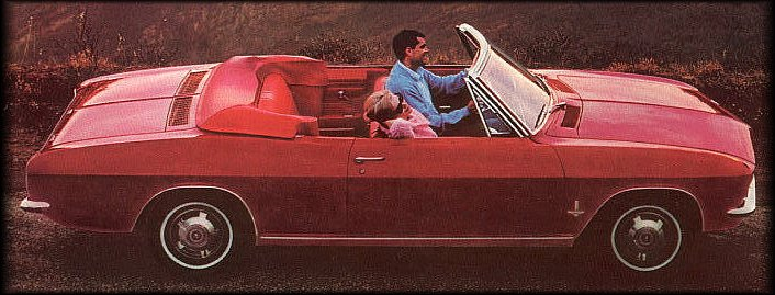 Corvair Monza convertible in Regal Red