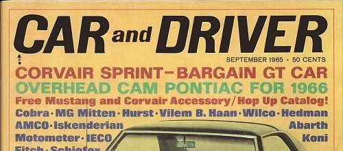 Car and Driver, Sept. 1965