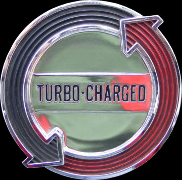 "1965 Corvair ""turbo-charged"" emblem"