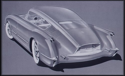 54 Corvette Corvair design sketch (30726 bytes)