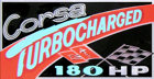 1965 Corsa Turbocharged decal
