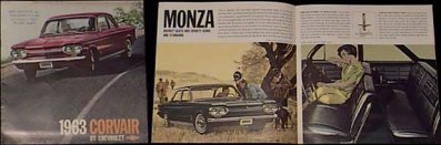 1963 Corvair sales brochure